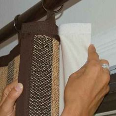 Use velcro to hold black-out curtains in place.