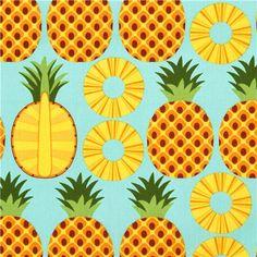 pineapple fruit fabric