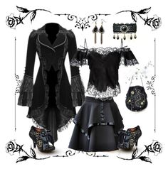 """""""Gothic"""" by black-passion ❤ liked on Polyvore featuring Disney, Givenchy and Irregular Choice"""