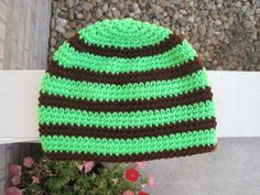 Striped version of Crochet Hat
