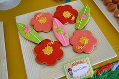 Cookies at a Hawaiian Luau Party #hawaiianluau #partycookies