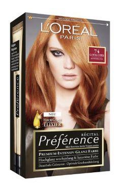 loral paris prfrence coloration kupferblond 74 3er pack 3 x 1 colorationsset - Coloration L Oreal Blond