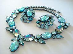 Vintage Signed Regency Necklace and Earrings Beautiful by Objeks