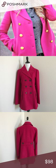 NEW LOFT Pea Coat Pink First photo for inspiration • New without tags LOFT Jackets & Coats Pea Coats