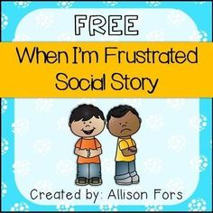 Behavior Social Story FREE A social story mini-book on how to handle frustration in color and black & white.FREE A social story mini-book on how to handle frustration in color and black & white. Social Skills Activities, Teaching Social Skills, Social Skills Autism, Social Skills For Kids, Articulation Activities, Therapy Activities, Teaching Resources, Social Emotional Development, Social Emotional Learning