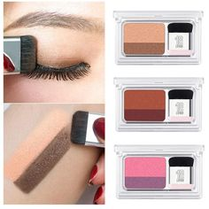 New Eyes Beauty 2 Colors Matte Shimmer Eyeshadow Pigmented Palette With Makeup Brushes Waterproof Smoky Eye Shadow Powder 2018 Simple Eyeshadow, Blending Eyeshadow, Pigment Eyeshadow, Shimmer Eyeshadow, Eyeshadow Looks, Eyeshadow Makeup, Eyeshadow Palette, Makeup Brushes, Makeup Cosmetics