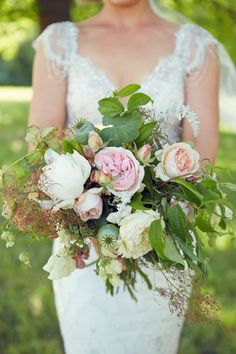 Bouquet --- Romantic and Rustic Victoria Wedding at Anderson's Mill --- See more on Style Me Pretty: www. Whimsical Wedding, Elegant Wedding, Floral Wedding, Rustic Wedding, Dream Wedding, Fall Wedding, Romantic Wedding Receptions, Romantic Weddings, Wedding Flower Arrangements