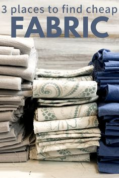 Think out of the box and you can find fabric for much less than the fabric store! #fabric #fabriccrafts #ragrugfabric
