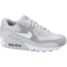 Nike Air Max 90 Women's Shoes - Neutral Grey, 6 ($60) ❤ liked on Polyvore