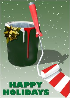 Painting Company Christmas Card :: Construction Christmas Cards- Greeting Cards for the Construction Industry.