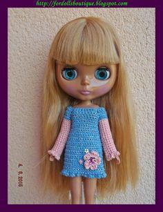 Vestido para Blythe de Fordollsboutique en Etsy