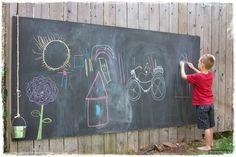 Outdoor Chalkboard a must do before summer!
