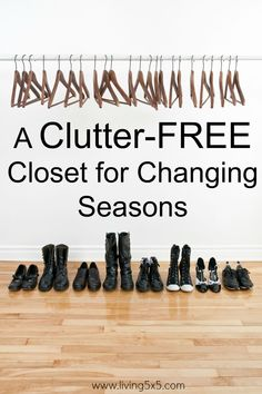 A Clutter-Free Closet for Changing Seasons can help you ease into your new fall wardrobe. Get these helpful tips to get you started!