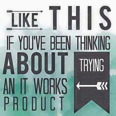 Could you help me out?  I'm looking for people to add to my brag book.  Use the products for 3 months and give me your honest opinion.   That's all!   go to Love2wrapwithmandy. Myitworks. Com 1⃣ click PRODUCTS 2⃣ choose a product to look at..... 3⃣ click ADD TO CART 4⃣ make a one time purchase retail OR sign up as a loyal customer to enjoy 40% off every order and earn Perk Points which will earn you FREE products!: