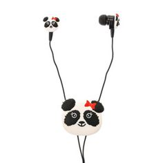 Panda Earbuds with Winder