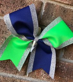 Cheer Bow Bow Custom Cheer Bow tick tock by CurlyNoodleCreations