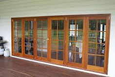 french doors bifold - Google Search French Doors, China Cabinet, Windows, Entertaining, Google Search, House, Furniture, Home Decor, Decoration Home