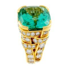 Tiffany & Co. Angela Cummings - Green Tourmaline Ring
