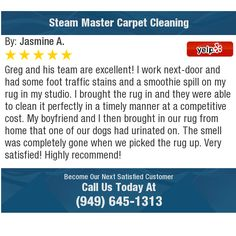 Greg and his team are excellent! I work next-door and had some foot traffic stains and a...