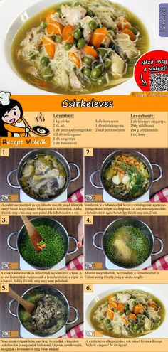 Chicken Soup Recipe with Video - Simple Soup Recipes - SUPPEN Rezepte mit Videos, mit Rezeptkarten - Chicken Soup Recipes, Easy Soup Recipes, Lunch Recipes, Cooking Recipes, Healthy Recipes, Healthy Vegan Breakfast, Health Breakfast, Lunches And Dinners, Meals