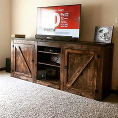 gorgeous diy media console