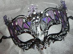 Pretty black and purple mask