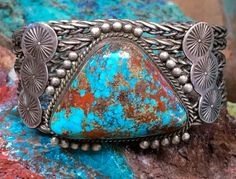 1 Navajo Pawn Turquoise Silver Bracelet Sterling Silver – Yourgreatfinds