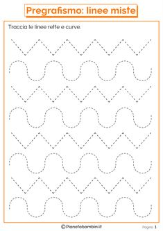 Trace the Dotted Lines Worksheets for Kids - Preschool and Kindergarten Preschool Writing, Preschool Learning Activities, Preschool Curriculum, Preschool Printables, Kindergarten Worksheets, Worksheets For Kids, Teaching Kids, Autumn Activities, Alphabet Tracing Worksheets