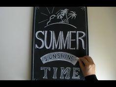 大人黒板、チョークアートを活かした黒板使いで夏を飾る!(drawing:Summer chalkboard)