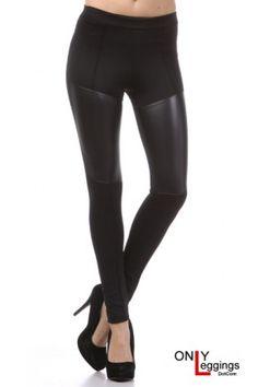 Faux Leather Leggings   OnlyLeggings.com