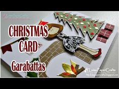 Luisa PaperCrafts: Tarjeta Navideña hecha a mano. Handmade Christmas card. Video tutorial with English Subtitles.
