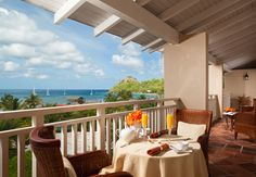 Enjoy breakfast on the terrace of the William Jefferson Clinton Suite. | Sandals Resorts | St. Lucia