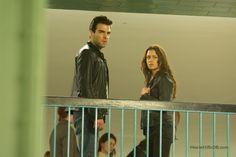 Agent 47  - Publicity still of Zachary Quinto & Hannah Ware