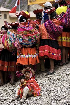 Peru ~ I love all the woven designs.  The little children are so special.