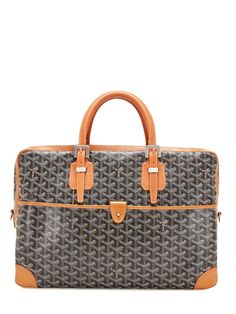 Goyard Brown & Black Ambassade Monogram Briefcase