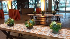 Aimia diner 2/4 - Meritage Events for wooden tables, linens, bar