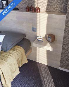 Inspirations Décoration Castorama Exotisme contemporain : IDÉE DÉCO : Créer une tête de lit avec du parquet