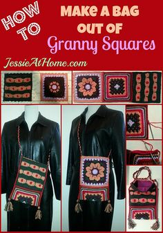 How to make a bag out of granny squares