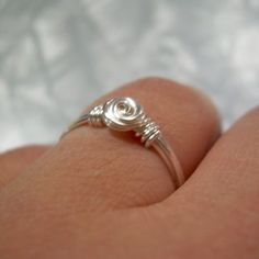 rosette wire wrapped ring 3