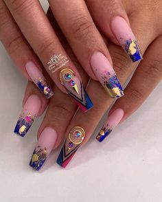 [New] The 10 Best Nail Ideas Today (with Pictures) - Bold and Beautiful . Tag and share with anyone who loves these nails . Best Acrylic Nails, Acrylic Nail Designs, Nail Art Designs, Fabulous Nails, Gorgeous Nails, Pretty Nails, Nail Swag, Dope Nails, Bling Nails