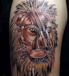 Strongmen always have Lion Tattoo Designs on them. Normally, they serve symbols of unparalleled strength, 24 Best Lion Tattoo Designs added for your tattoo design ideas. Lion Tribal, Art Tribal, Great Tattoos, Small Tattoos, Tattoos For Guys, Temporary Tattoo Designs, Tattoo Designs Men, Lion Rasta, Afrika Tattoos