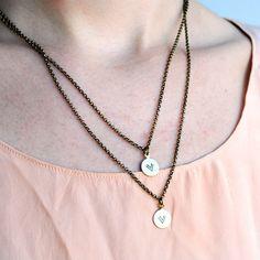 Fab.com | Double Chevron Charm Necklace