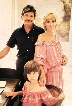 Charles bronson with wife Jill and daighter Zulieka