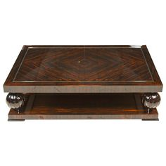 Art Deco Style Coffee Table in Macassar Ebony | From a unique collection of antique and modern coffee and cocktail tables at https://www.1stdibs.com/furniture/tables/coffee-tables-cocktail-tables/