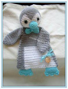 Kuscheltuch Pinguin