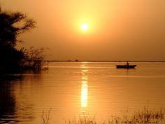 Horgászat: HÁTTÉRKÉP naplemente (kép)