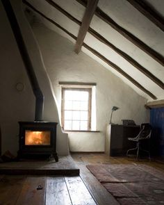 Wood burner with recycled, convict brick hearth?
