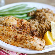 Broiled Caribbean Tilapia - McCormick® Caribbean Citrus Seafood Marinade Mix is an easy way to add the sunny flavors of the islands to your favorite seafood. Photo credit: Jen Tilley from How to Simplify. Cod Fillet Recipes, Tilapia Recipes, Fish Recipes, Seafood Recipes, Marinated Tilapia Recipe, Marinated Chicken, Seafood Dishes, Recipes, Kitchens