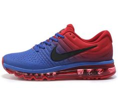 new style 9e436 d7a84 Mens Nike Air Max 2017 Blue Red Black Clearance