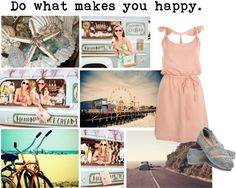 """""""Do what makes you happy."""" by storyofmylife24 on Polyvore"""